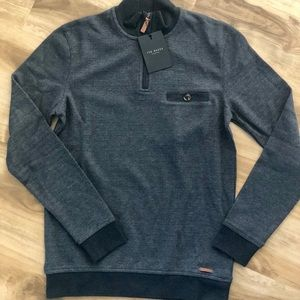 Ted Baker Decc Brushed Jersey Funnel neck sweater